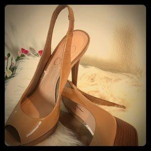 Jessica Simpson Beige Slingback Shoes